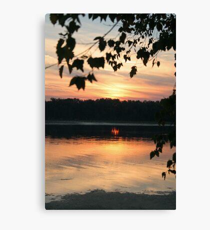 Mississippi sunset Canvas Print
