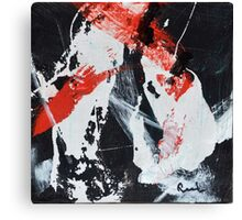 Black White and Red IV Canvas Print