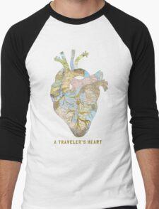 A Traveler's Heart Men's Baseball ¾ T-Shirt