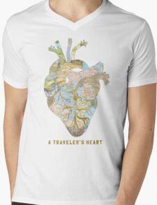 A Traveler's Heart Mens V-Neck T-Shirt