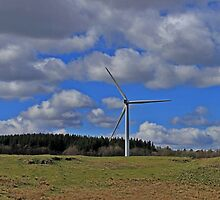Wind Turbine landscape  by Robert Flynn