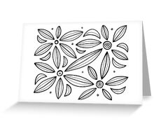 Ianni Abstract Expression Black and White Greeting Card