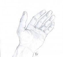 Artist's hand by Michael Skeard