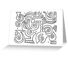 Agrela Abstract Expression Black and White Greeting Card