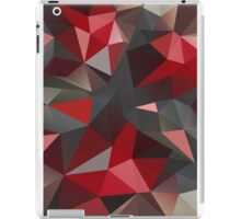 Abstract red and gray triangles iPad Case/Skin
