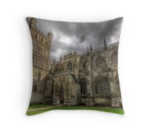 April weather at the cathedral Throw Pillow
