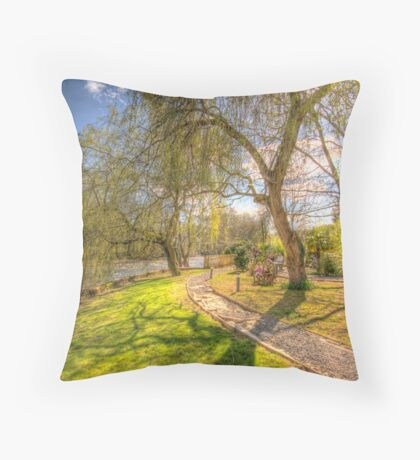 Springtime HDR Throw Pillow