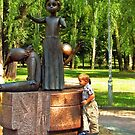 Monument to children killed at Babi Yar by LudaNayvelt