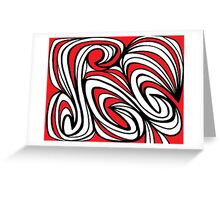 Eigner Abstract Expression Red White Black Greeting Card