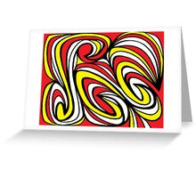 Essner Abstract Expression Yellow Red Black Greeting Card