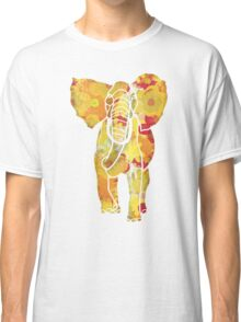 Garden Charm IV:  Floral Watercolor in Bright yellow, orange and red Classic T-Shirt