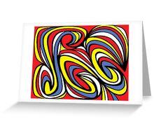 Yara Abstract Expression Yellow Red Blue Greeting Card