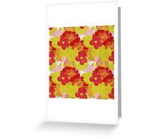 Garden Charm IV:  Floral Watercolor Bright and Bold Greeting Card