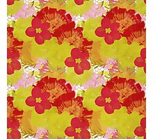 Garden Charm IV:  Floral Watercolor Bright and Bold Photographic Print