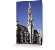 Brussels Townhall Greeting Card