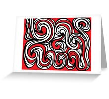 Malabanan Abstract Expression Red White Black Greeting Card