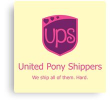United Pony Shippers Canvas Print