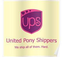United Pony Shippers Poster