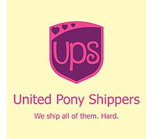 United Pony Shippers Photographic Print