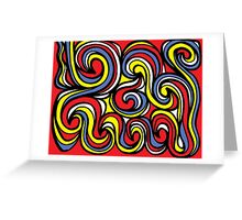 Beckelheimer Abstract Expression Yellow Red Blue Greeting Card