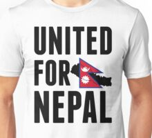 UNITED FOR NEPAL - Earthquake In Nepal Unisex T-Shirt