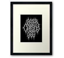 BETH CHILDS 666 Framed Print