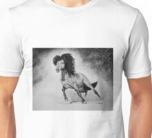 """A Free & Untamed Spirit"" - Charcoal portrait Unisex T-Shirt"
