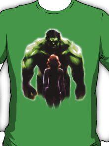 MARVEL - Black Widow and Hulk Romance T-Shirt