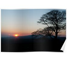 Sunset In the Dales Poster