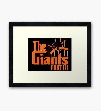 The GIANTS Framed Print