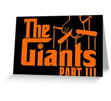 The GIANTS Greeting Card