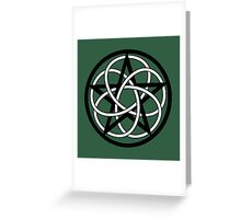 Celtic Knot Pentacle Greeting Card