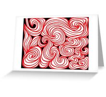 Tsai Abstract Expression Red White Black Greeting Card