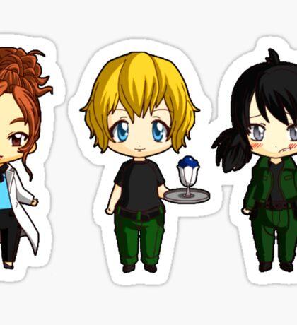 Chibi Stargate - Girl Power Lineup Sticker