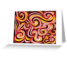 Kratowicz Abstract Expression Yellow Red Black Greeting Card