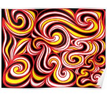 Kratowicz Abstract Expression Yellow Red Black Poster