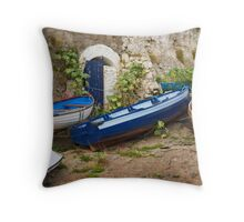 Wooden Boats Throw Pillow