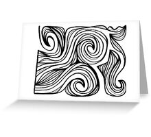 Moskal Abstract Expression Black and White Greeting Card