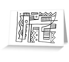 Rigas Abstract Expression Black and White Greeting Card
