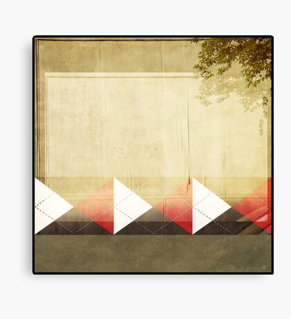 Argyle Wall Canvas Print