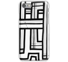 Teo Abstract Expression Black and White iPhone Case/Skin