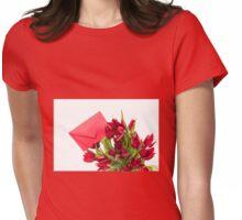 Red tulips flower post Womens Fitted T-Shirt