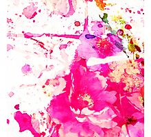 flower and splash in pink Photographic Print