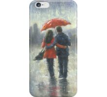 SEATTLE LOVERS IN THE RAIN iPhone Case/Skin