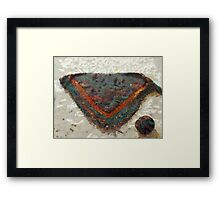 Knitted Shawl and Yarn Ball Framed Print