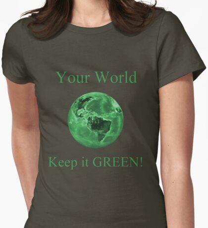 A Green World Womens Fitted T-Shirt