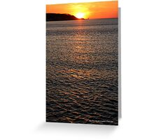 Long Island Sound Sunset   Miller Place, New York  Greeting Card
