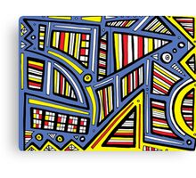 Zapalac Abstract Expression Yellow Blue Canvas Print