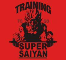 Training to go Super Saiyan One Piece - Short Sleeve