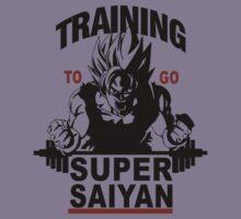 Training to go Super Saiyan Kids Clothes
